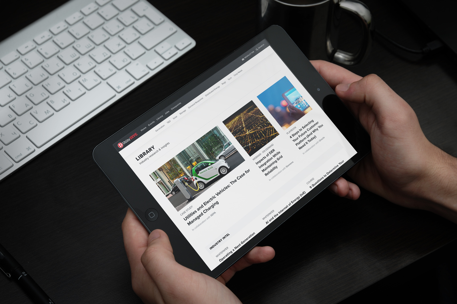 page in ipad mockup